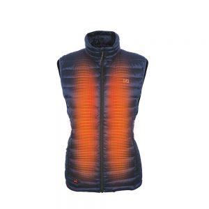 2018_Mobile_Warming_Heated_Apparel_Womens_12_Volt_Bluetooth_Endeavor_Vest_Dark_Navy_Front_Heat_Zone_MWJ18W08