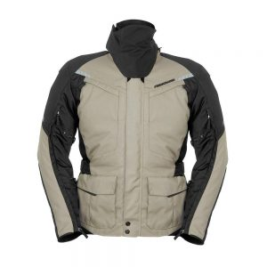 2018_Fieldsheer_Motorcycle_Gear_Mens_Tour_Vented_Textile_Jacket_Dark_Khaki_Front_Symetrical_Arms_Down_FSJ16M16